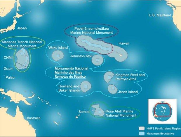 imagem santuário marinho pacífico