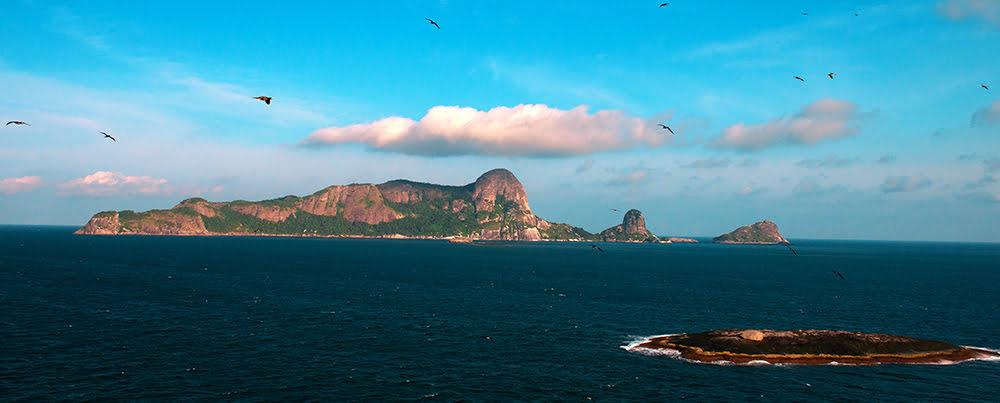 Arquipélago de Alcatrazes, litoral Norte de São Paulo, imagem da ilha de alcatrazes