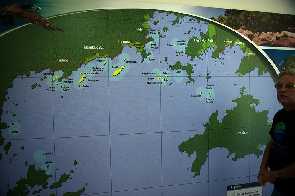 ESEC de Tamoios e seus muitos problemas, imagem do-mapa-da-ESEC de Tamoios.