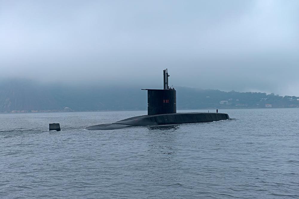 APA Guapimirim / ESEC da Guanabara, imagem de -submarino na baía de guanabara