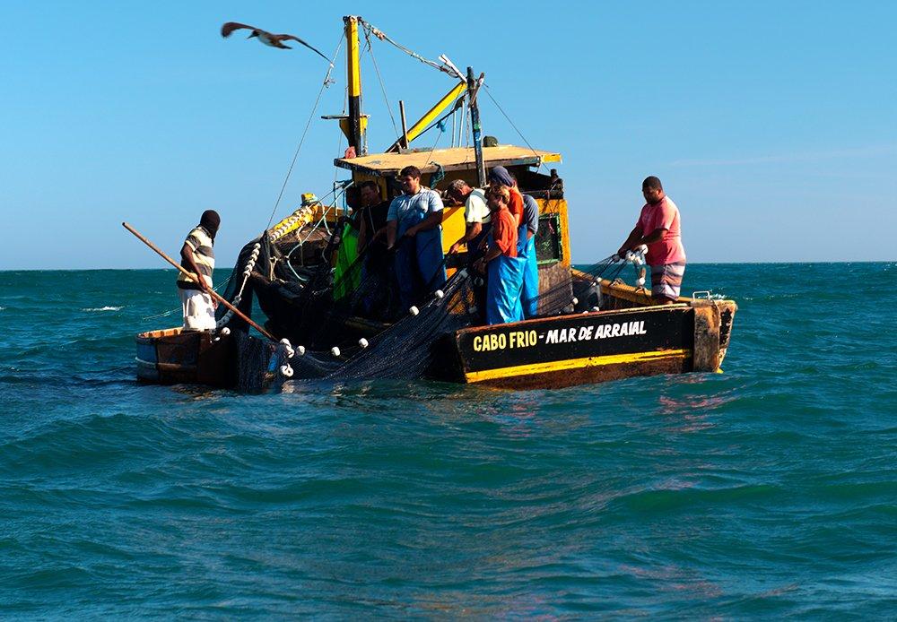 imagem de -traineira-pescando em Cabo Frio