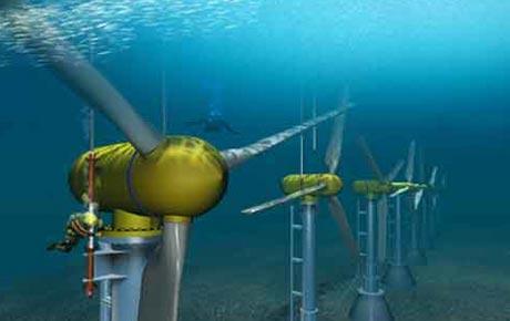maior usina de marés do mundo, imagem de turbinas da maior usina de marés do mundo