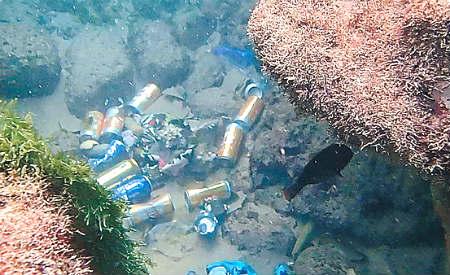 lixo do mar em Salvador, imagem de lixo no mar