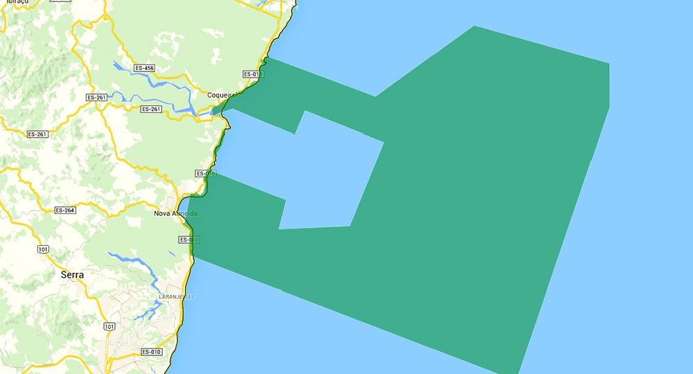 Reserva Biológica dos Comboios e APA Costa das Algas, mapa- da APA COSTA DAS ALGAS
