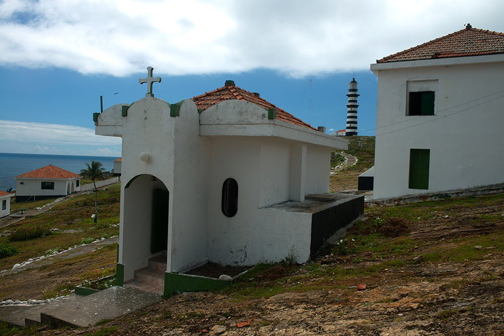 a-capela no Parque Nacional Marinho dos Abrolhos