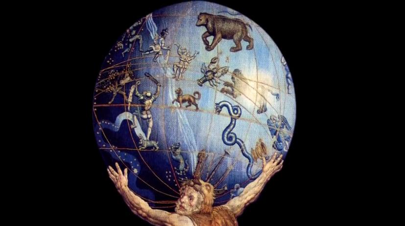 O mar sem fim é portuguez..., imagem do globo terrestre