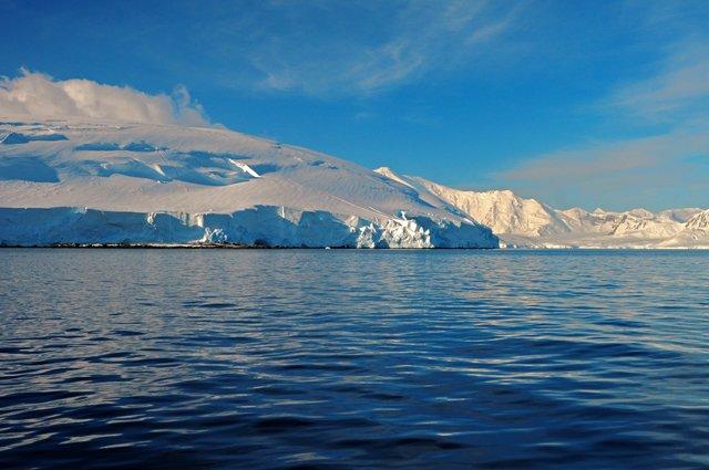 Antártica: calor recorde!, imagem de paisagem antártica