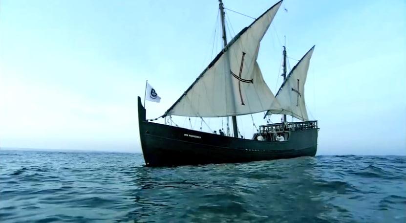O mar sem fim é portuguez..., imagem de caravela-latina-