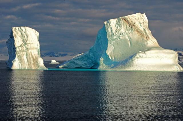 Antártica: calor recorde!,imagem de icebergs