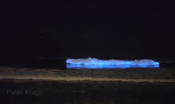 ondas brilhantes