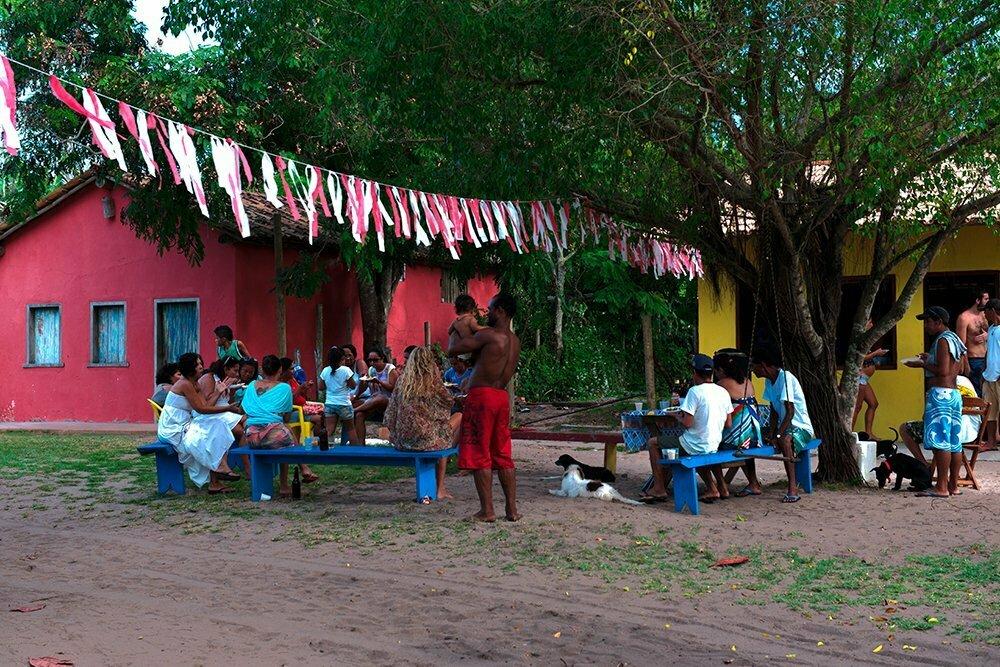 Resex Corumbau, imagem de Caraíva em dia de festa