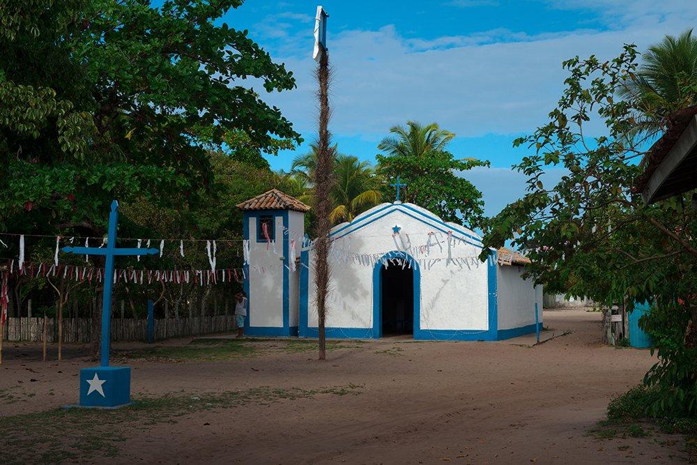 Resex Corumbau, imagem da-igreja-de São Sebastião, caraiva