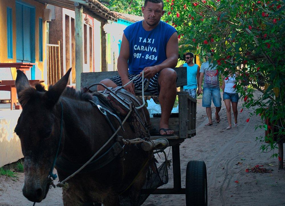 Resex Corumbau, imagem de carroça como taxi