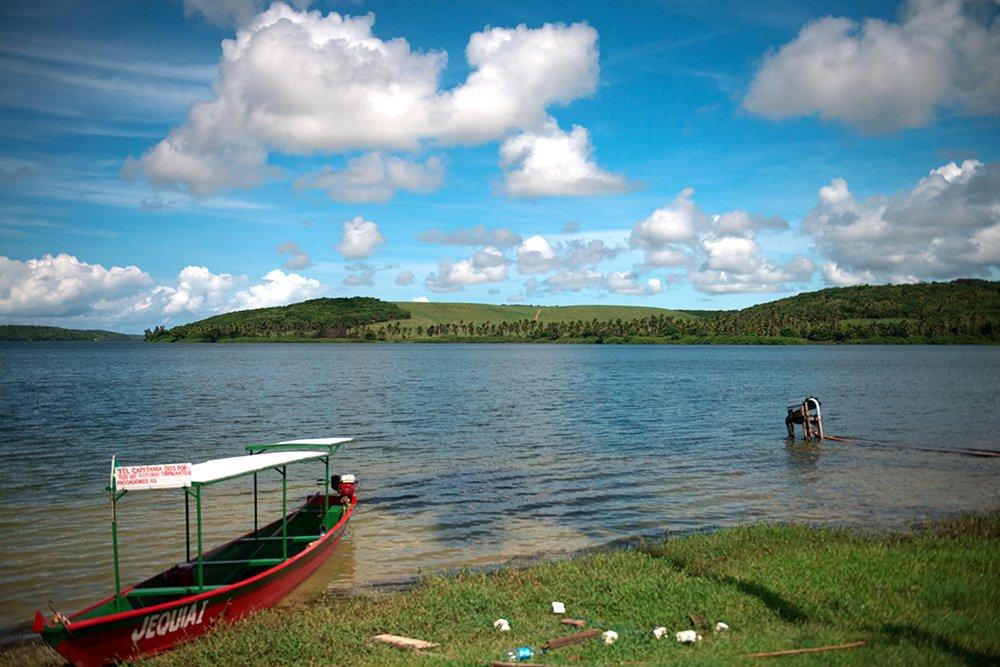 Resex Lagoa do Jequiá, imagem da lagoa de jequiá