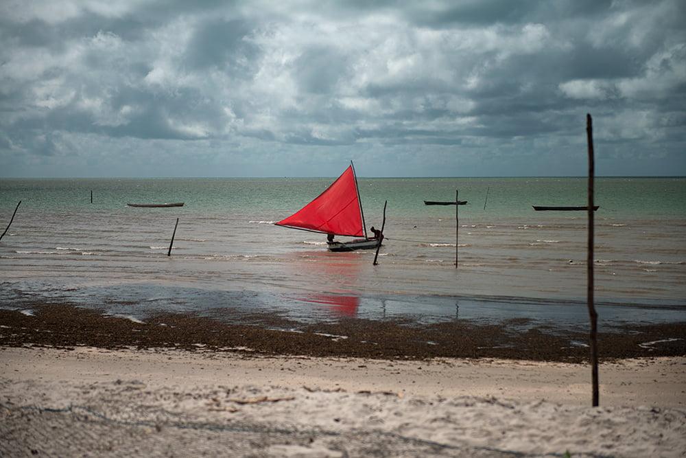 resex acaú goiana, imagem de barco à vela