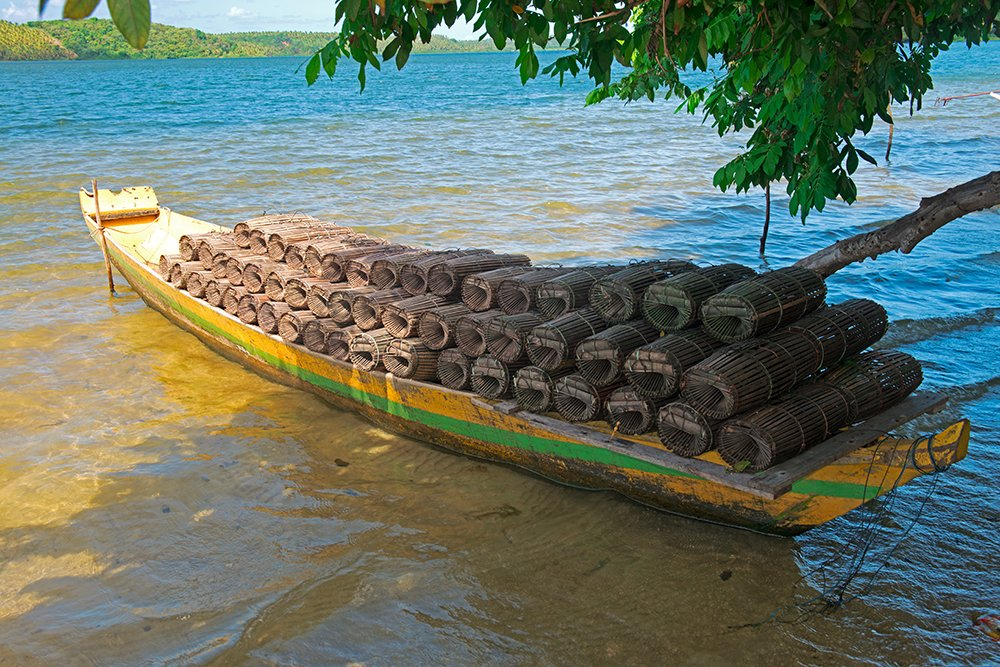 Resex Lagoa do Jequiá, imagem de um-barco-e-covos