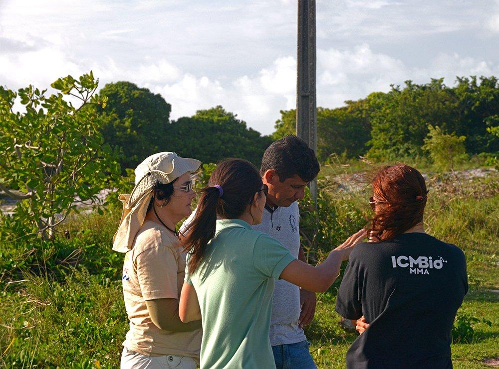 Árie e APA de Mamanguape, imagem das chefes das UCs e o 'cacique' Elias