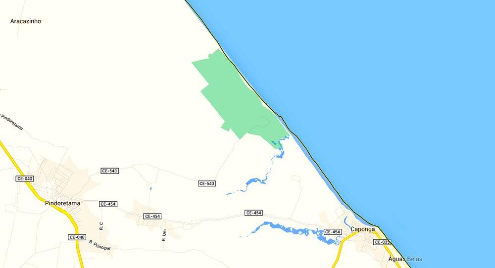 imagem de mapa da Resex Batoque