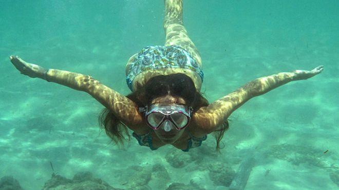 viver embaixo da água