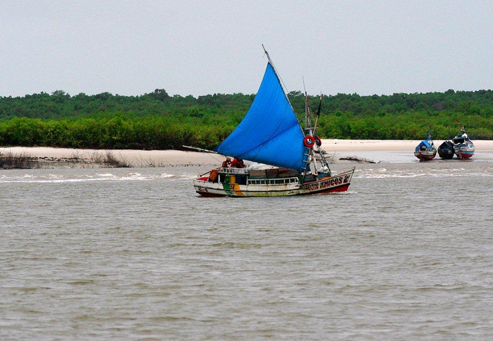 Resex Mãe Grande de Curuçá, imagem de barcos tradicionais