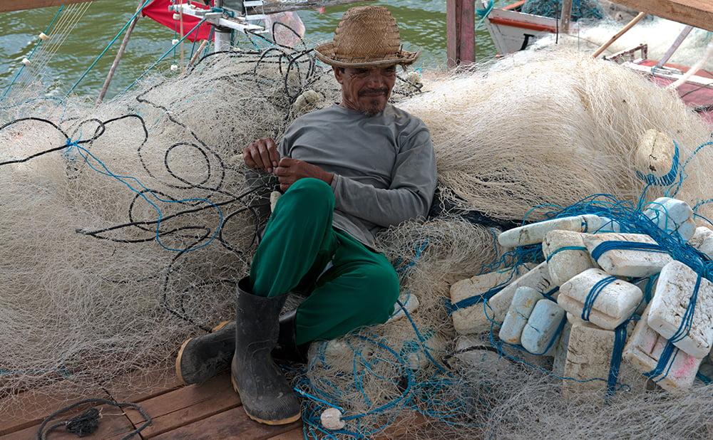 Resex Gurupi- Piriá, imagem de pescador descansando
