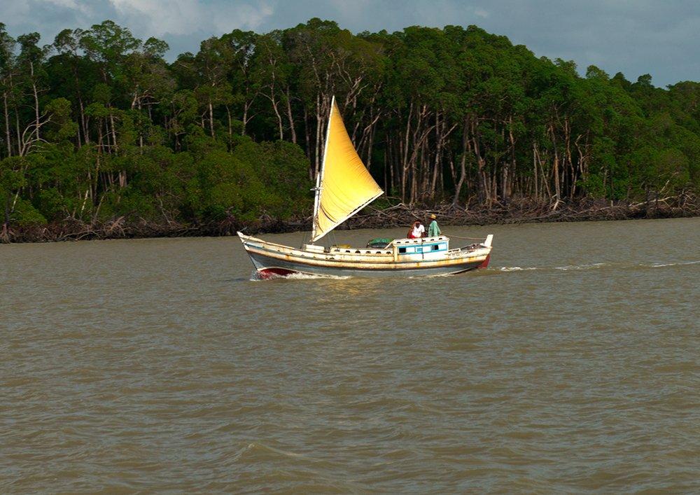 Resex de Cururupu, imagem de barco a vela na resex cururupu