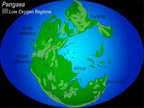 Brasil e a exploração mineral no Atlântico Sul, mapa de Pangeia
