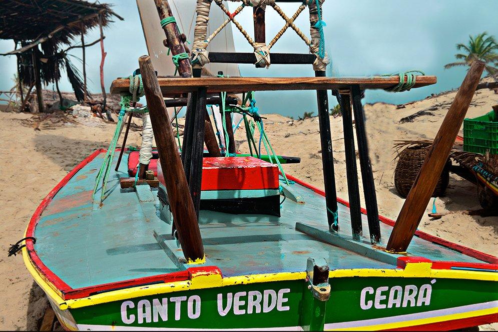 imagem de jangada na Reserva Extrativista Prainha do Canto Verde