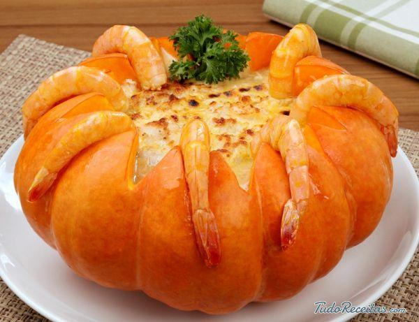 imagem de camarão na moranga