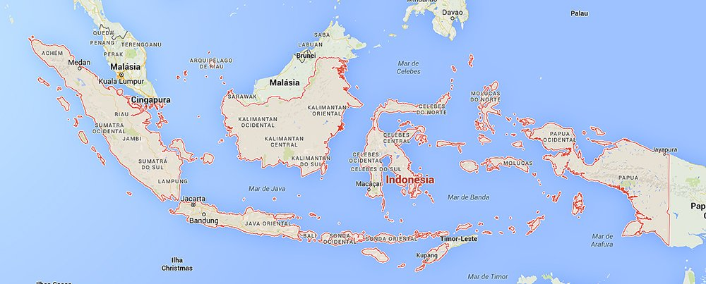 imagem de mapa da indonésia