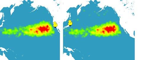 grafico mostrando os oceanos e A origem do plástico nos oceanos