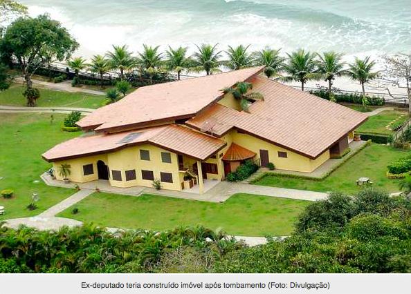 Especulação imobiliária: ricos brasileiros não têm vergonha, imagem da casa de praia do ex deputado evandro mesquita