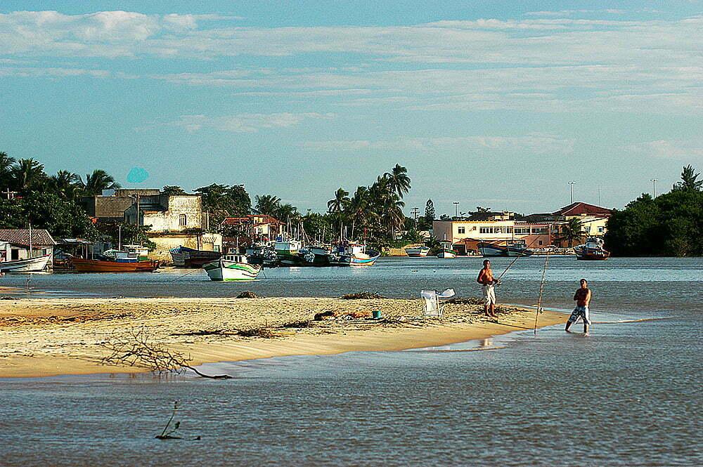 imagem da foz do rio Paraíba do Sul