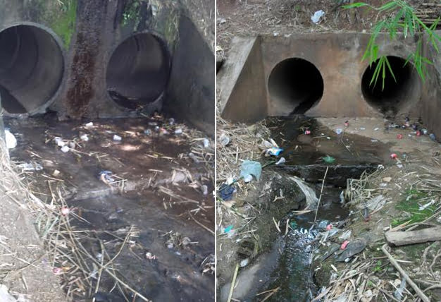 imagem de poluição no rio Parnaíba