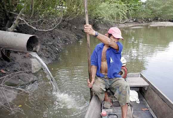 Colapso dos rios brasileiros, imagem do rio Potengi
