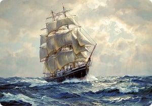piratas e naves espaciais, imagem de navio a vela