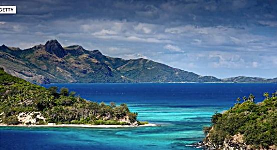 Kiribati: vítima do aquecimento global, imagem da ilha de vanua levu