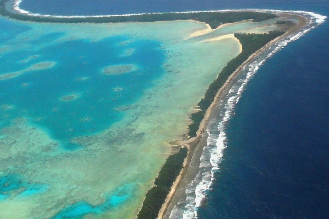 Lugares que podem ser tragados pelo mar, imagem de tuvalu
