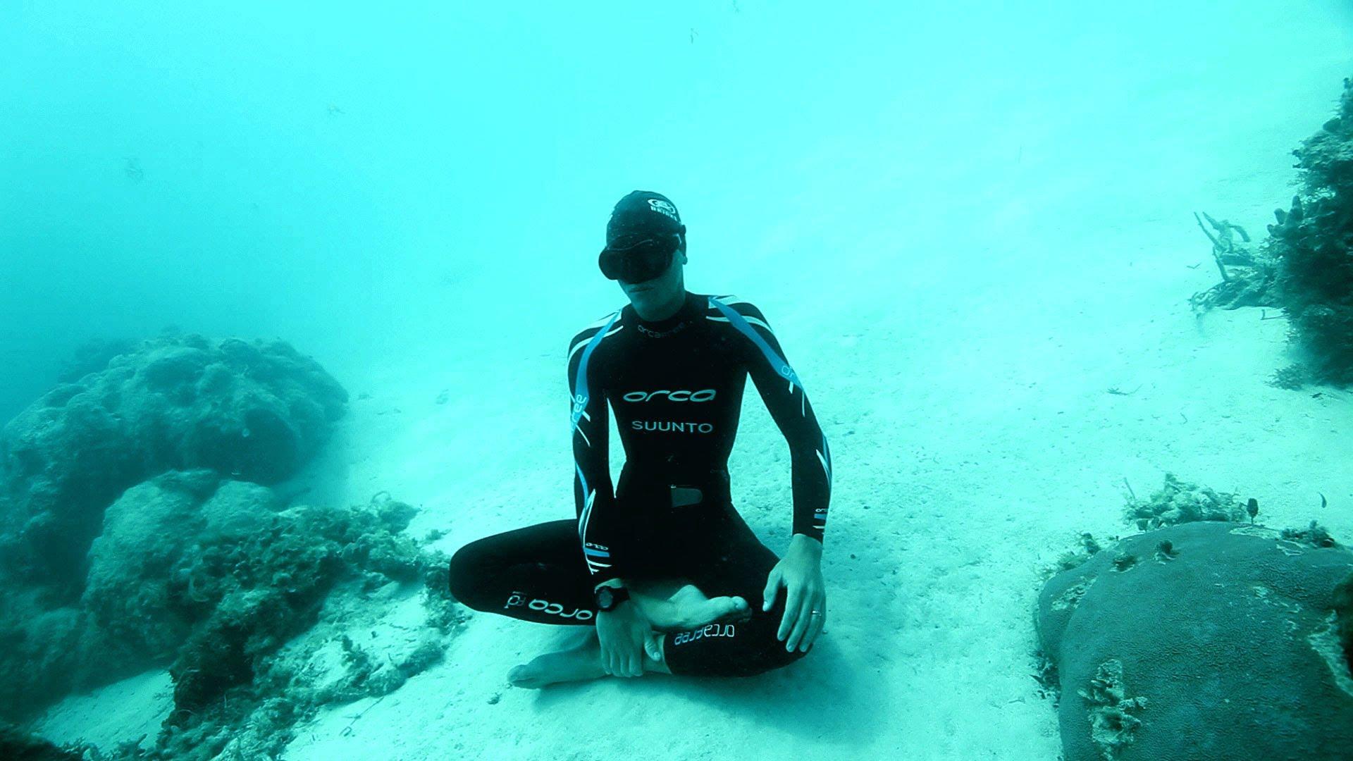 mergulhador bate recorde