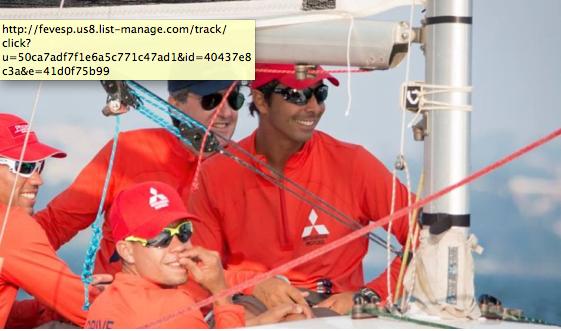 COPA YCP em Guarapiranga, imagem de velejadores a bordo
