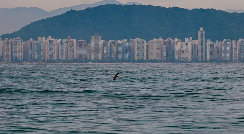 imagem da praia de Pitangueiras, Guarujá