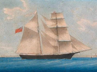 navio fantasma, imagem do navio Mary celeste