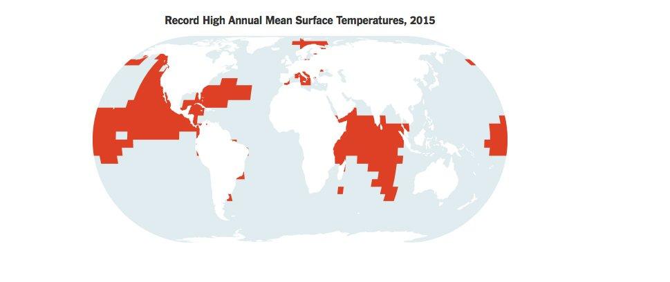 Oceanos absorvem excesso de calor, mapa mundi mostrando calor absorvido pela Terra