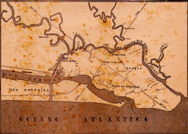 Riscos ao Lagamar, imagem do mapa-do-canal-do-valo-grande