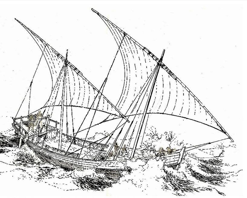 navio do século XIII, desenho-de-navio encontrado no fundo do mar Negro