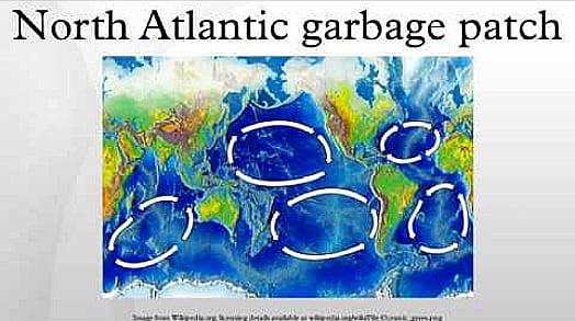 mapa mostra a mancha-de-lixo-do-atlantico-norte