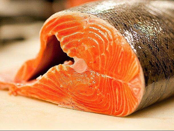 salmao, imagem de salmão na peixaria