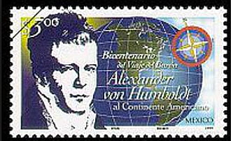 imagem de selo-mexicano com figura de Humbolt