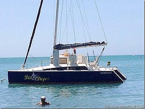 Catamarã desaparecido, imagem de catamarã