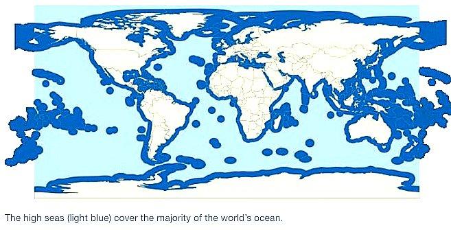 o-alto-mar, mapa mostrando o alto- mar